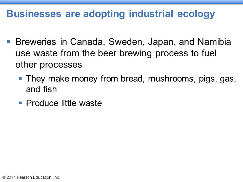Businesses are adopting industrial ecology