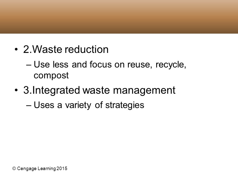 3.Integrated waste management