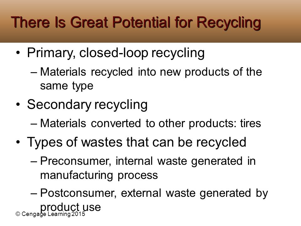 There Is Great Potential for Recycling