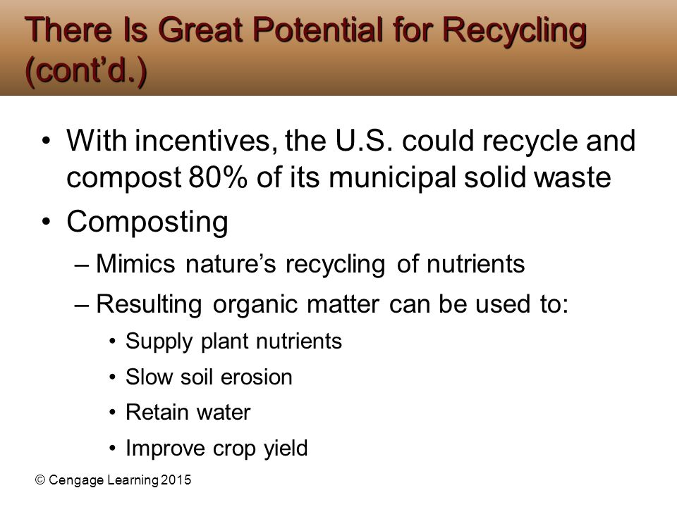There Is Great Potential for Recycling (cont'd.)