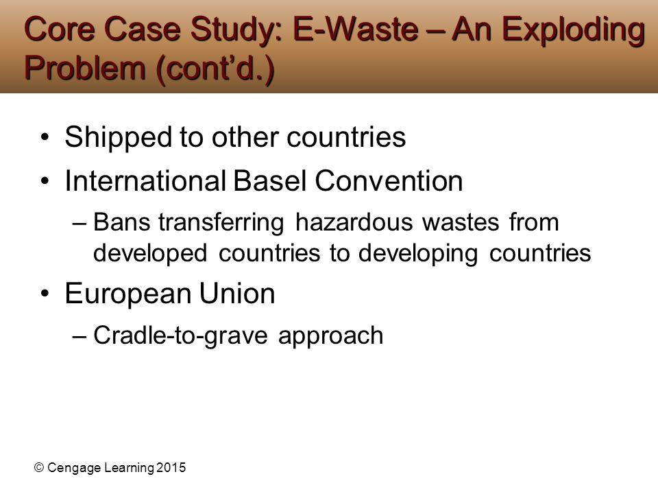 Core Case Study: E-Waste – An Exploding Problem (cont'd.)