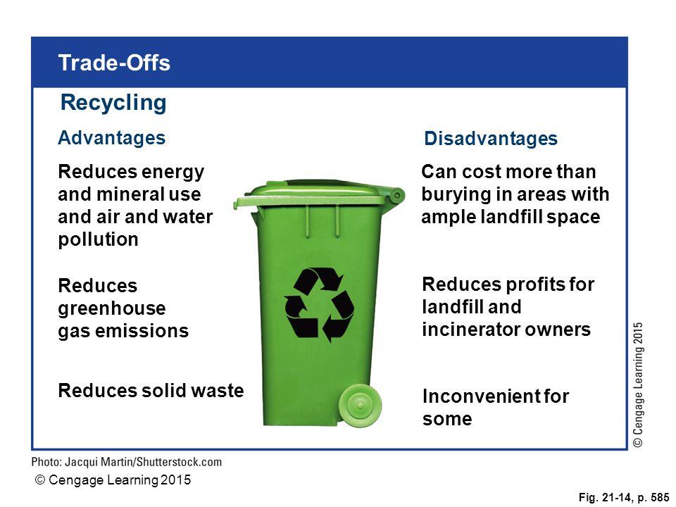 Trade-Offs Recycling Advantages Disadvantages
