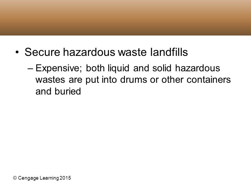 Secure hazardous waste landfills