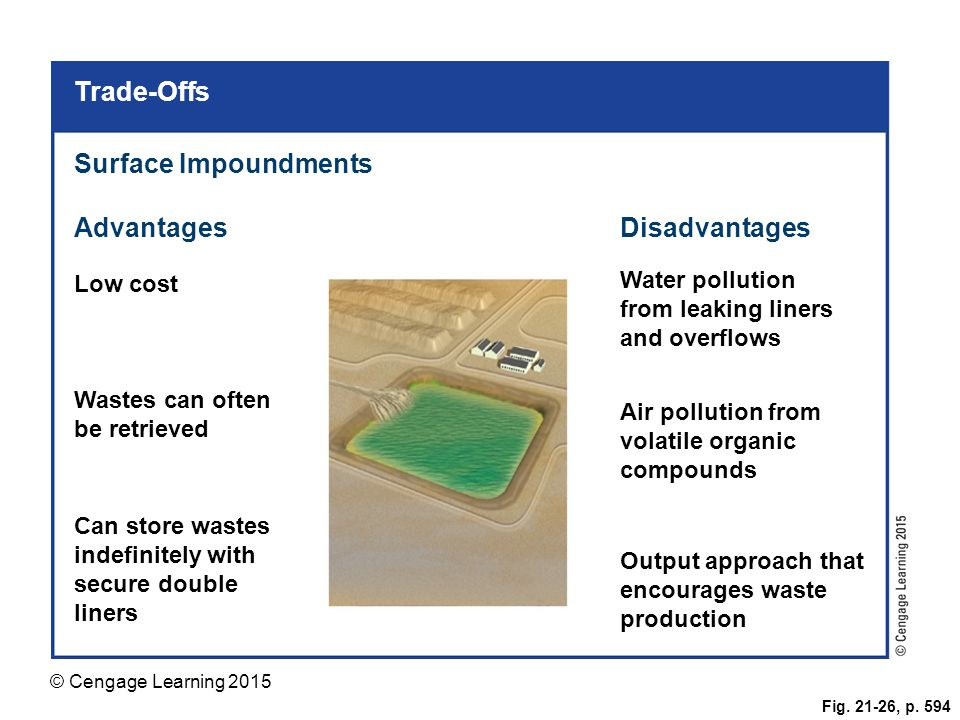 Trade-Offs Surface Impoundments Advantages Disadvantages