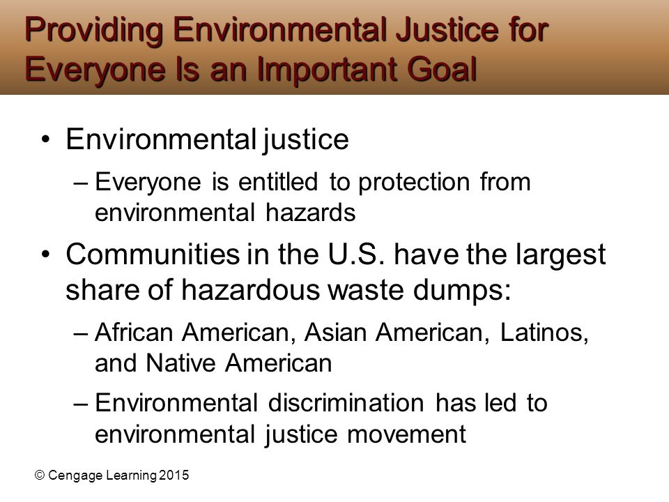 the importance of environmental justice for the american people The environmental justice movement has its origins in  african american community in partnership with  social justice with environmental.
