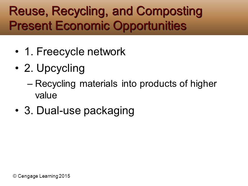 Reuse, Recycling, and Composting Present Economic Opportunities