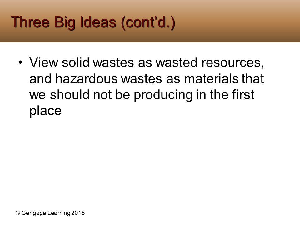 Three Big Ideas (cont'd.)