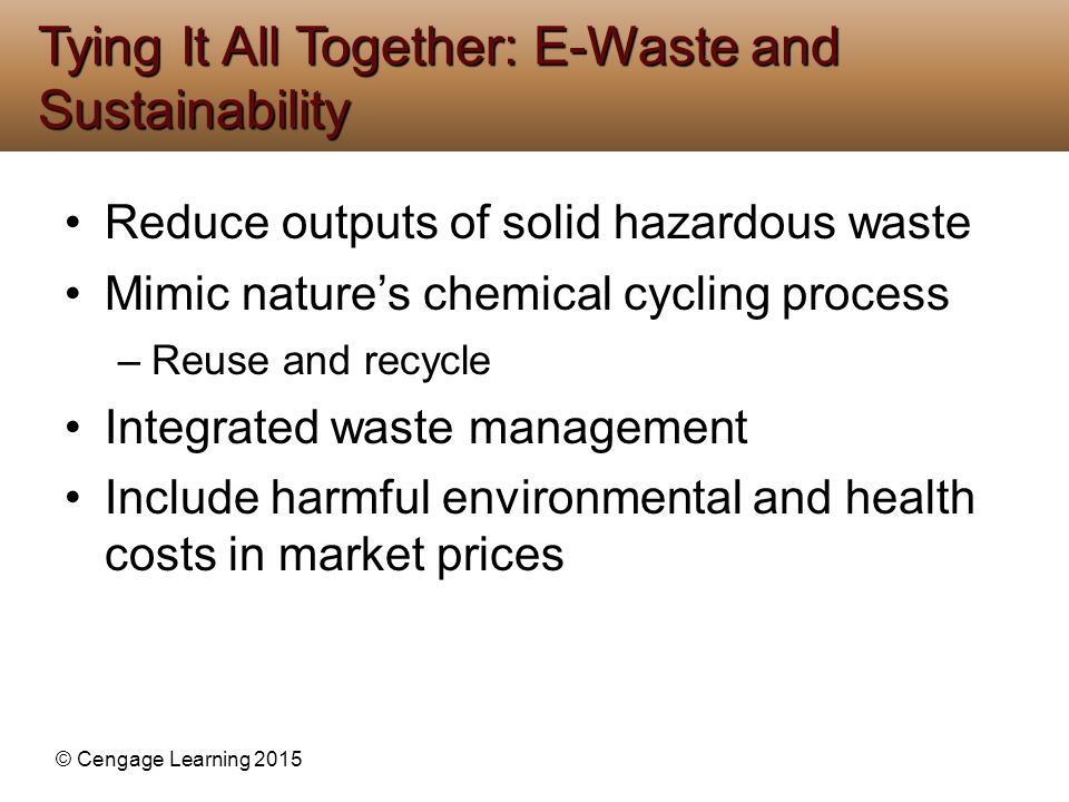 Tying It All Together: E-Waste and Sustainability
