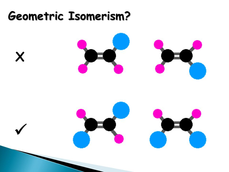 Geometric Isomerism X 