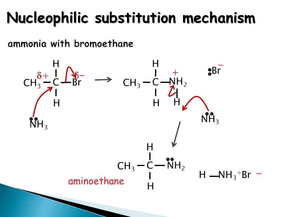 ammonia with bromoethane