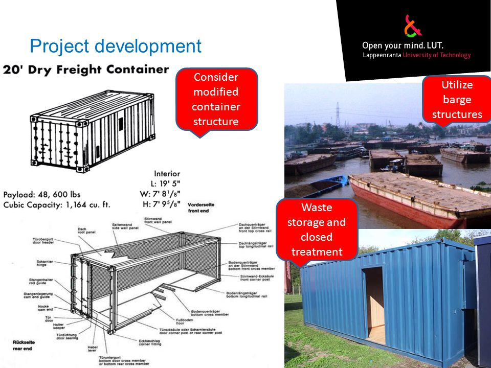 Project development Consider modified container structure