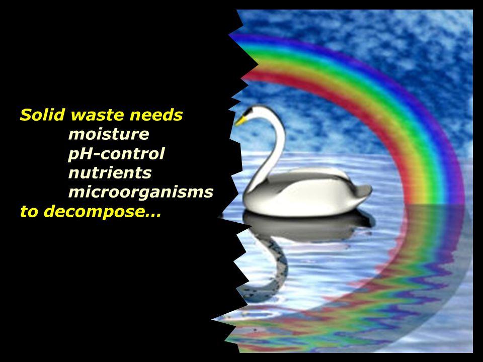 Solid waste needs moisture
