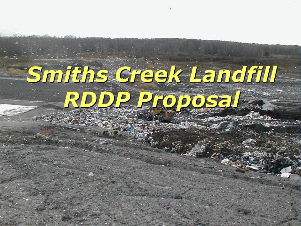 Smiths Creek Landfill RDDP Proposal