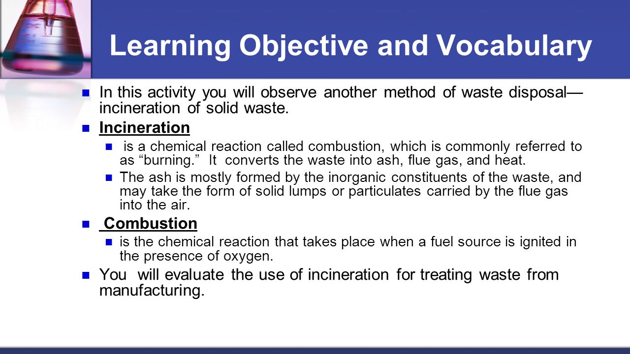 Learning Objective and Vocabulary
