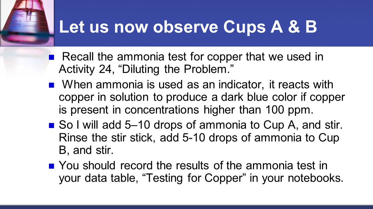 Let us now observe Cups A & B
