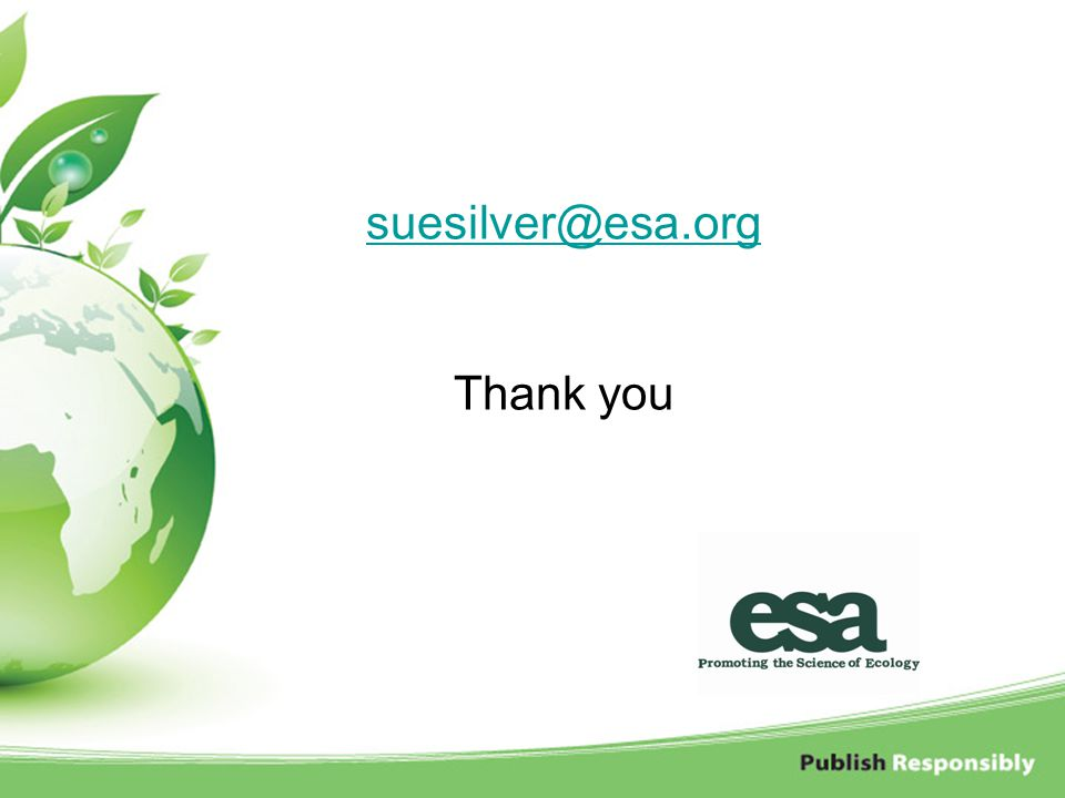 suesilver@esa.org Thank you
