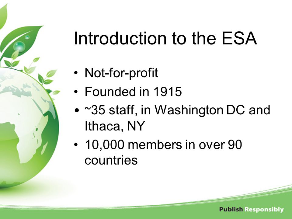 Introduction to the ESA