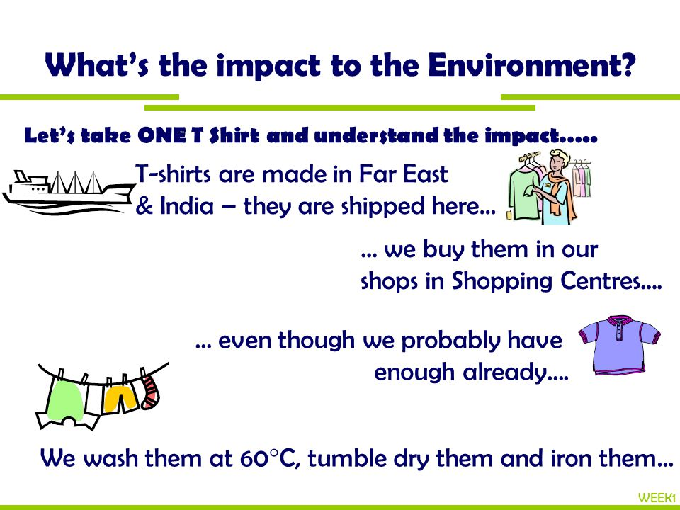 What's the impact to the Environment