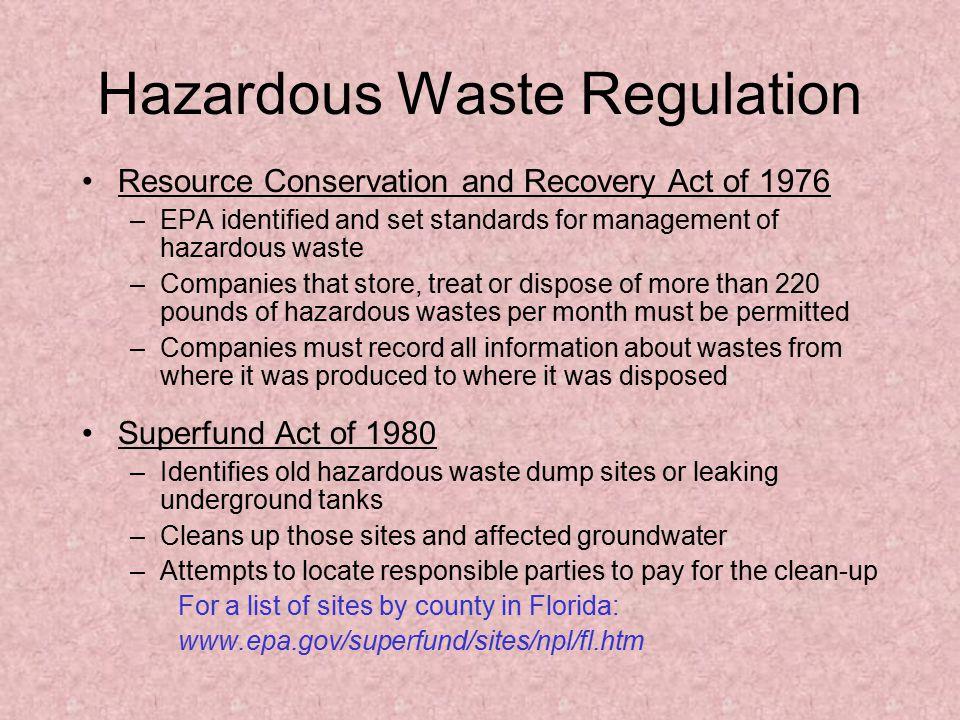 Hazardous Waste Regulation