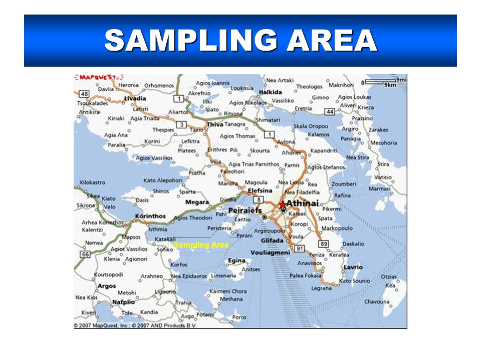 SAMPLING AREA Sampling Area