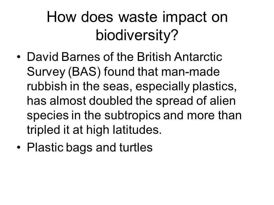 How does waste impact on biodiversity