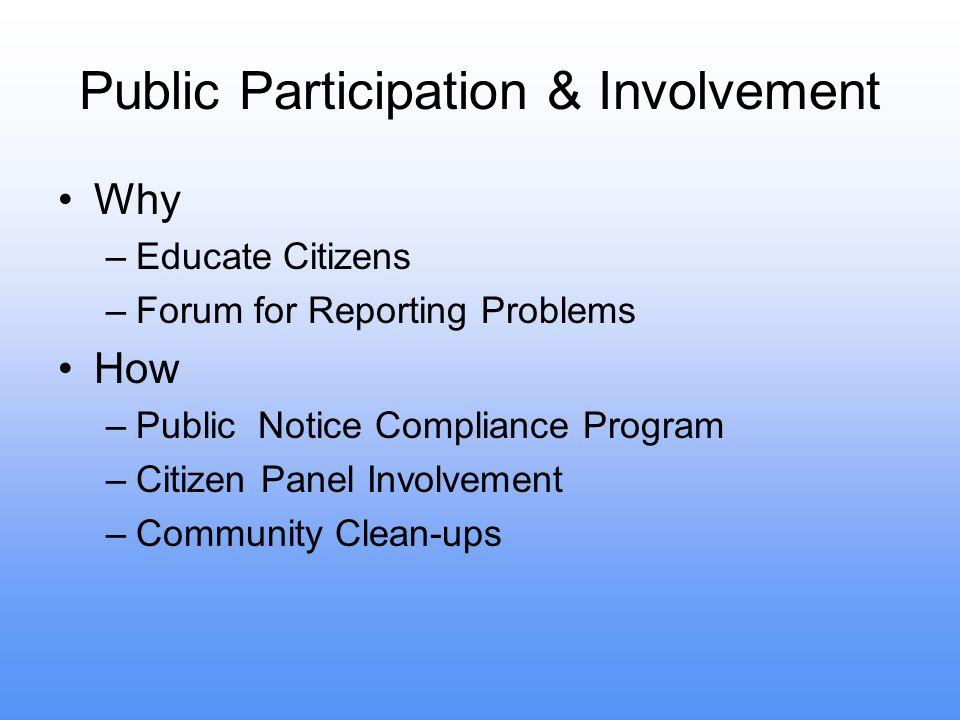 Public Participation & Involvement
