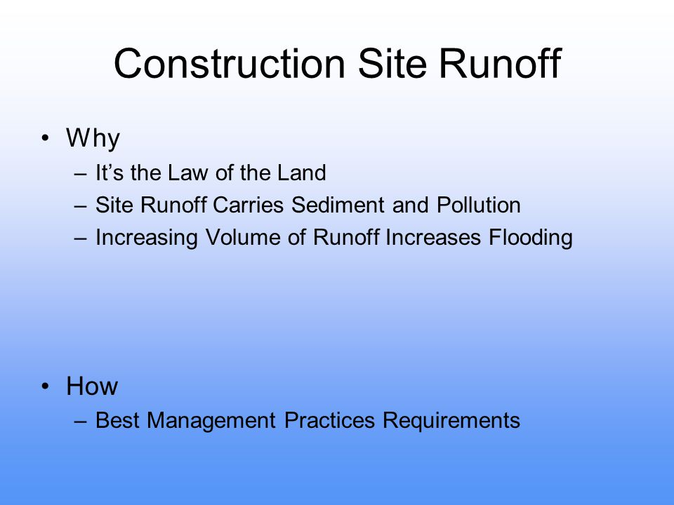 Construction Site Runoff