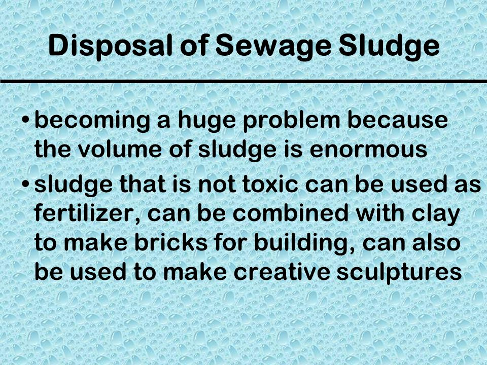 Disposal of Sewage Sludge