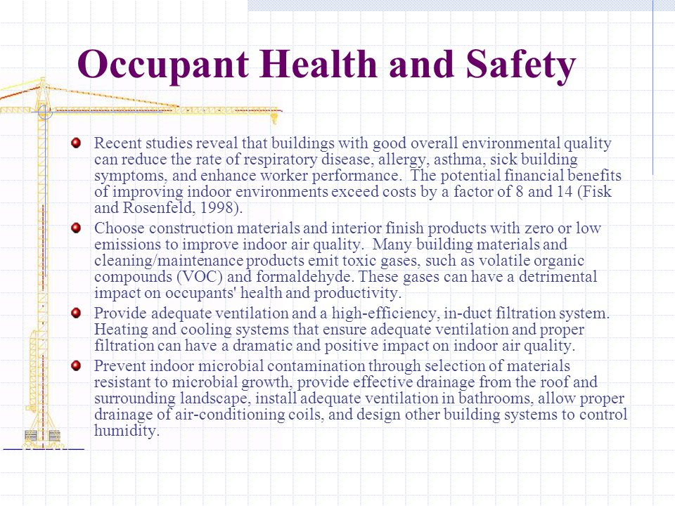 Occupant Health and Safety