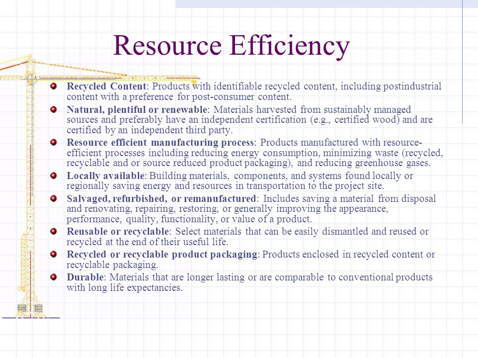 Resource Efficiency