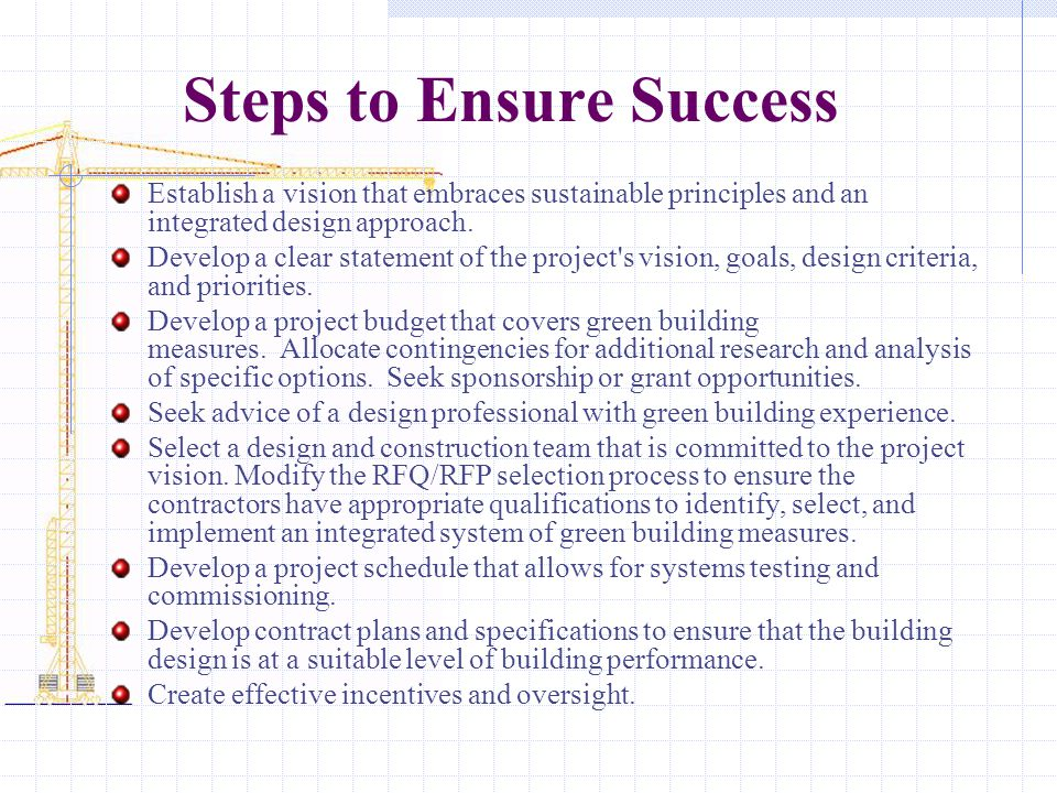 Steps to Ensure Success