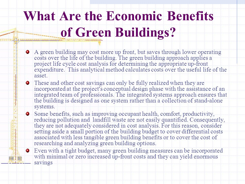 What Are the Economic Benefits of Green Buildings