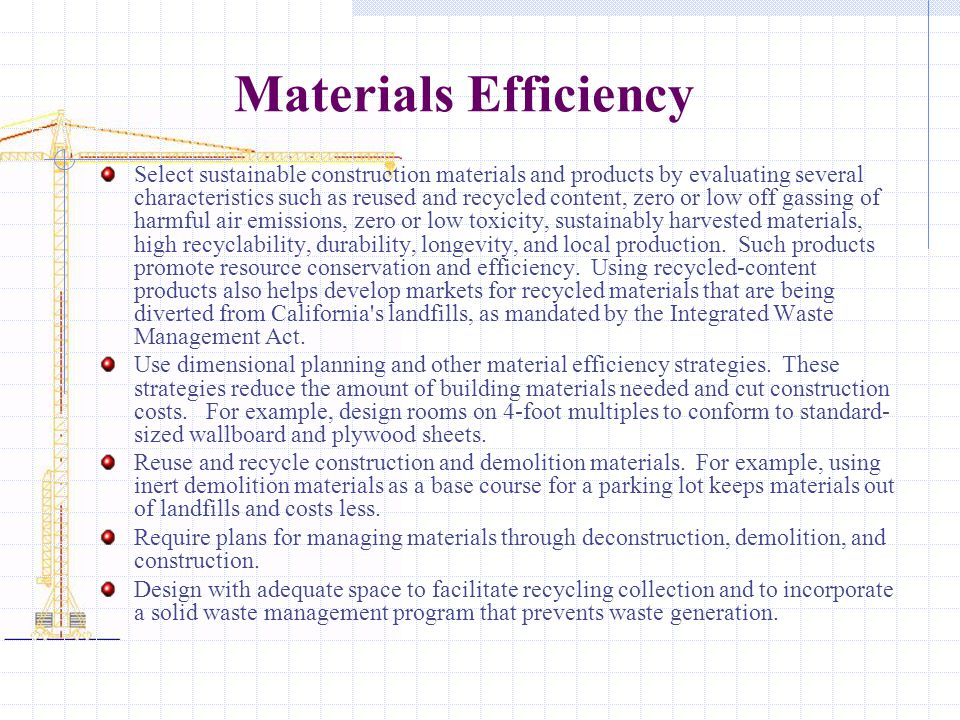 Materials Efficiency