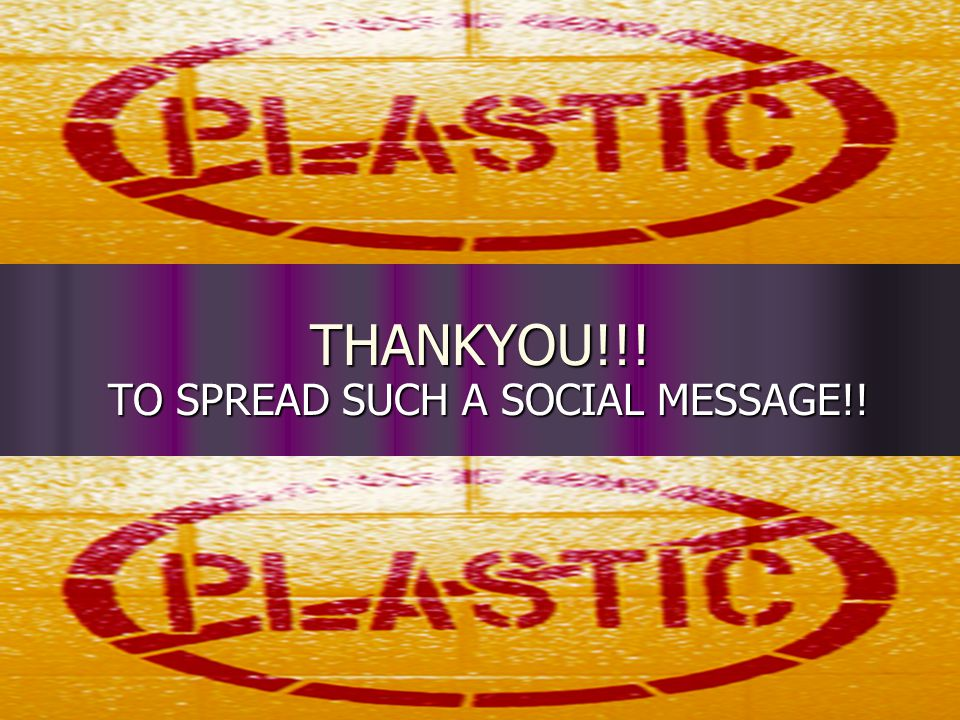 THANKYOU!!! TO SPREAD SUCH A SOCIAL MESSAGE!!