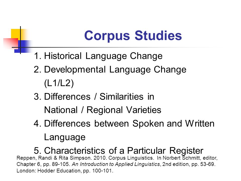 Corpus Studies 1. Historical Language Change