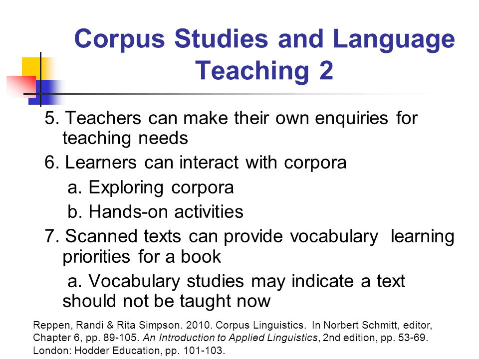 Corpus Studies and Language Teaching 2