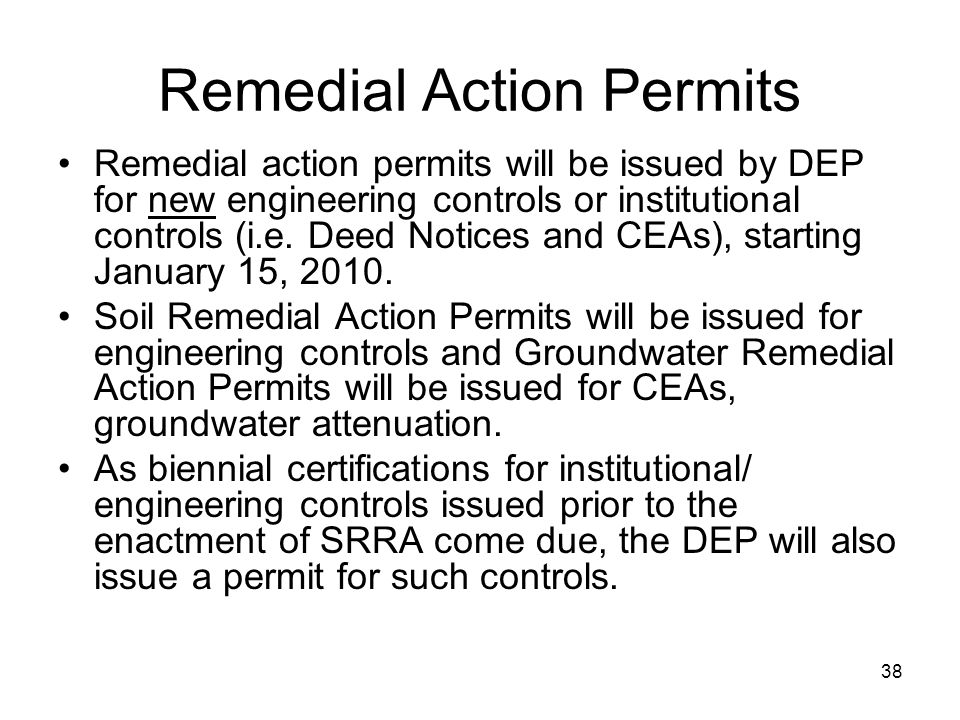 Remedial Action Permits