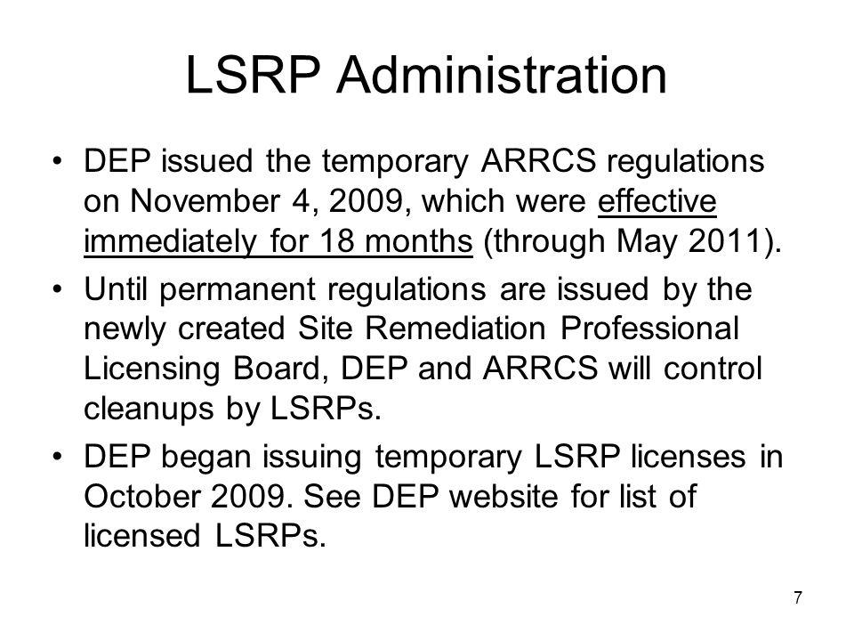LSRP Administration