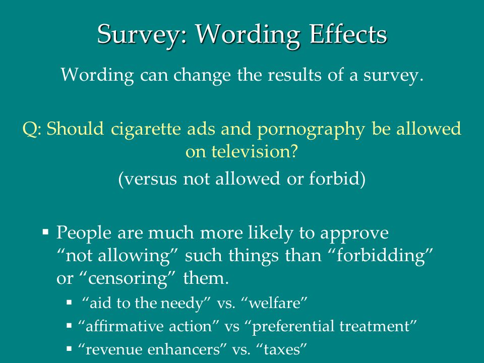 Survey: Wording Effects