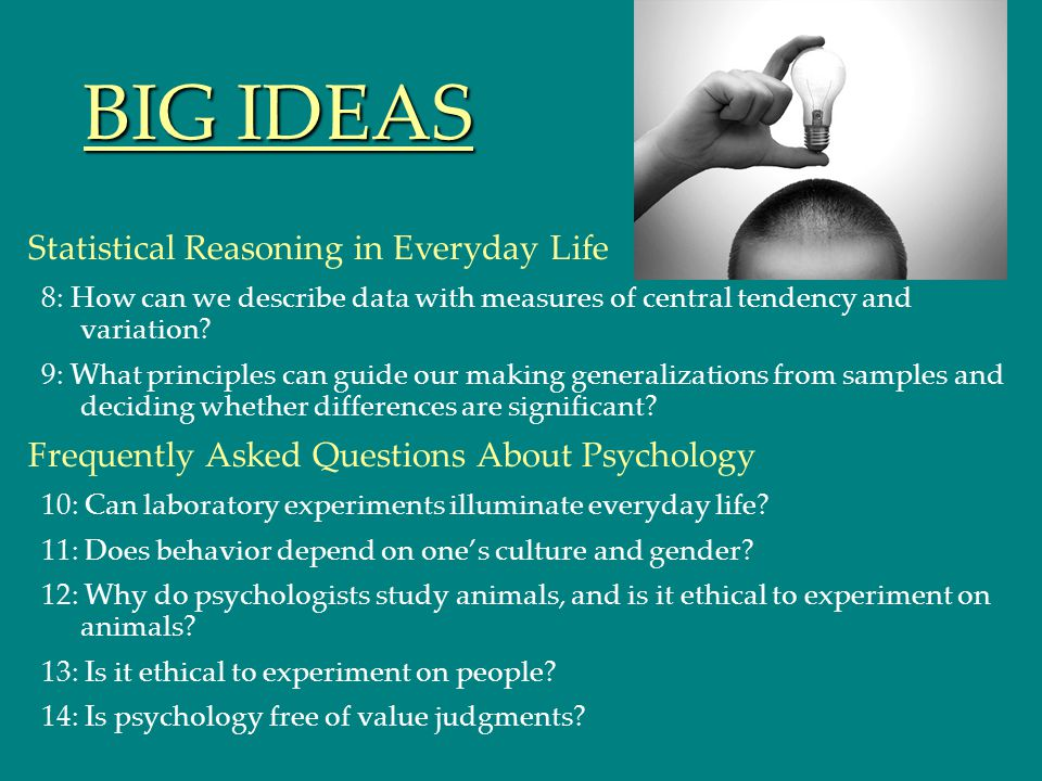 BIG IDEAS Statistical Reasoning in Everyday Life
