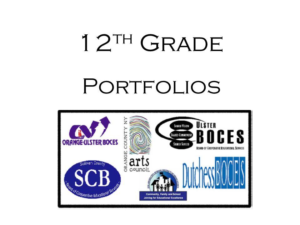 12th Grade Portfolios