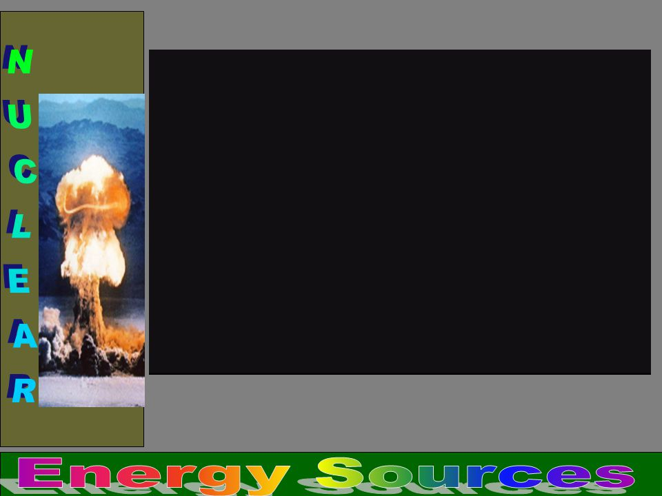 NUCLEAR Energy Sources