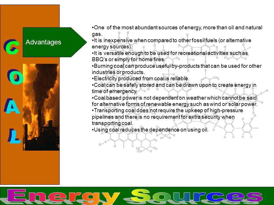 COAL Energy Sources Advantages