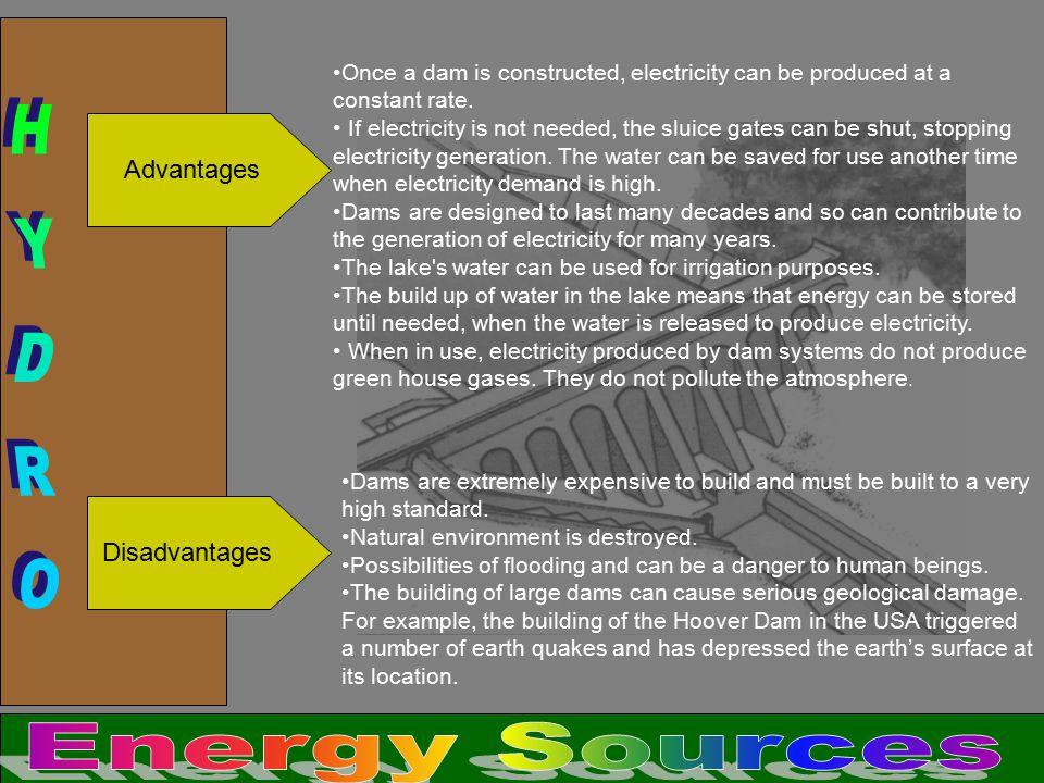 HYDRO Energy Sources Advantages Disadvantages