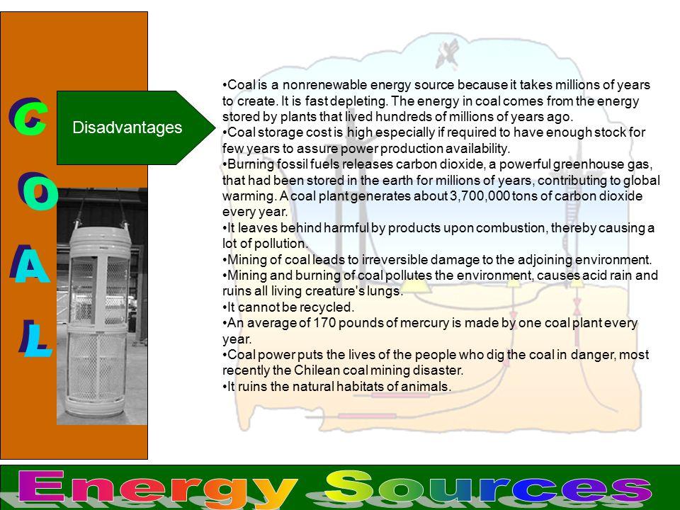COAL Energy Sources Disadvantages