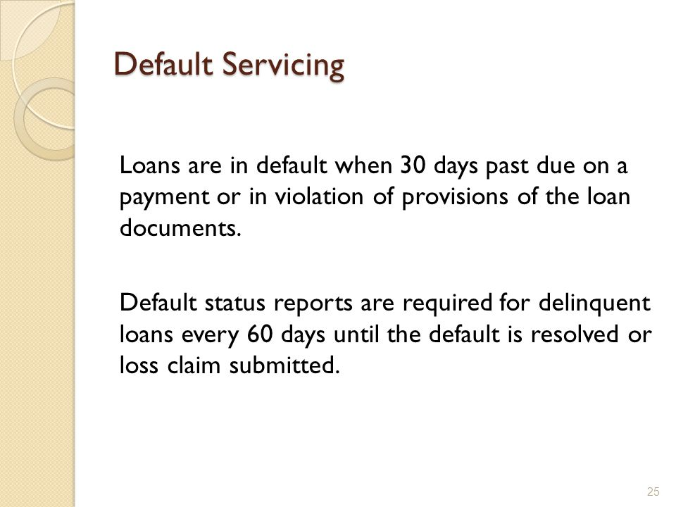 Default Servicing