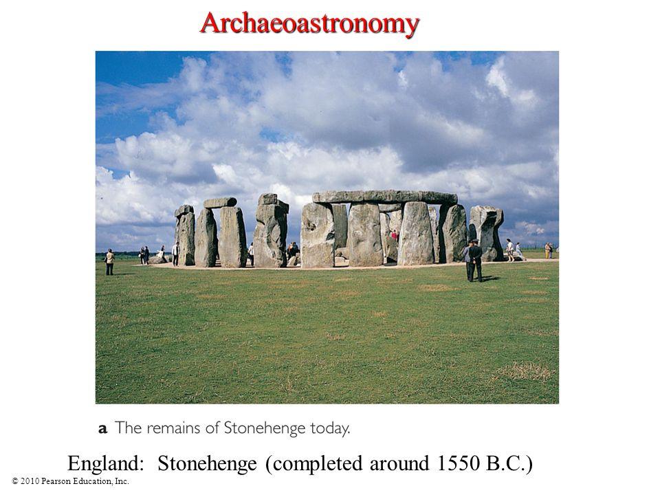Archaeoastronomy England: Stonehenge (completed around 1550 B.C.)