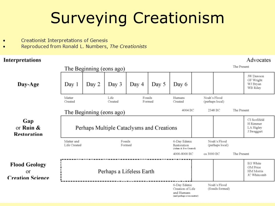 Surveying Creationism