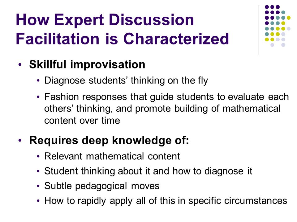 How Expert Discussion Facilitation is Characterized