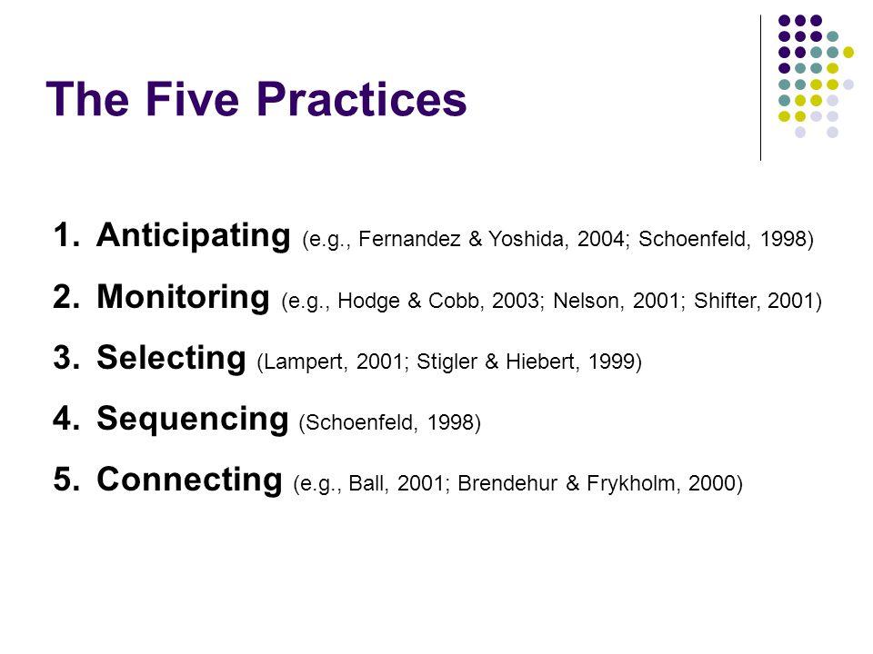 The Five Practices Anticipating (e.g., Fernandez & Yoshida, 2004; Schoenfeld, 1998)